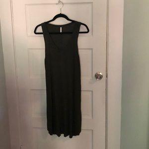 Dark green easy dress